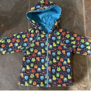 Zutano Monster/Dinosaur Reversible Sweatshirt